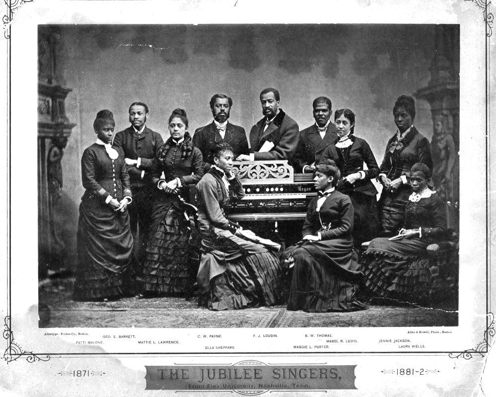 The Fisk Jubilee singers in 1882