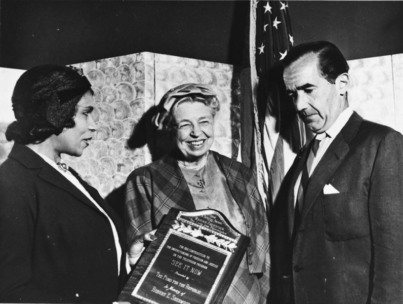 Marian Anderson, First Lady Eleanor Roosevelt & Broadcaster, Edward R. Murrow