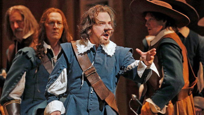 Roberto Alagna as Cyrano in Alfano's Cyrano de Bergerac. Photo Ken Howard/Metropolitan Opera.