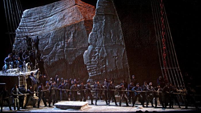 A scene from Wagner's Der fliegende Holländer. (Photo by Cory Weaver/Metropolitan Opera)