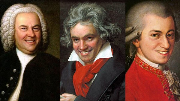 This is what your favorite composers would look like if they actually cracked a smile…