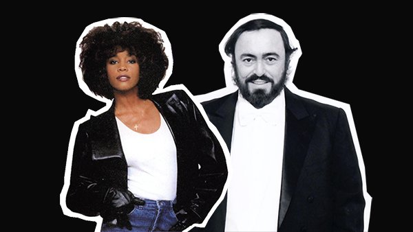 "You're guaranteed to get ""so emotional"" watching Whitney Houston sing with Luciano Pavarotti"