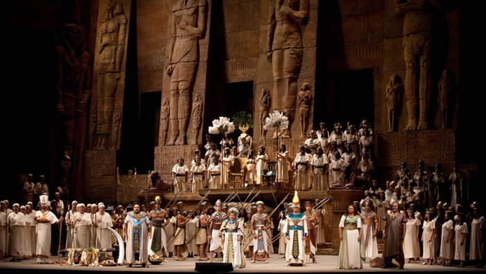 "A scene from VerdiÕs ""Aida."" Photo: Marty Sohl/Metropolitan Opera Taken during the dress rehearsal on September 24, 2009 at the Metropolitan Opera House in New York City."