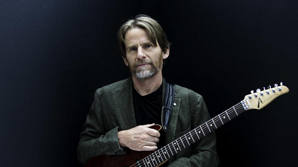 Grammy Award winner, Steven Mackey with guitar
