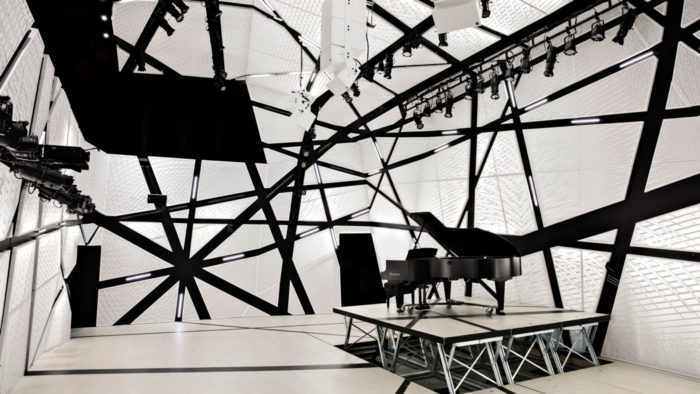 Interior of National Sawdust, New York. Designed by Bureau V. Photography by Floto + Warner.