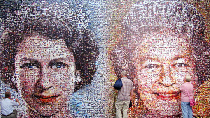 Mosaic Picture of Elizabeth II