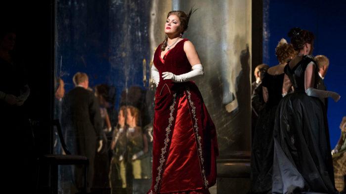 Anna Netrebko as Tatiana in Tchaikovsky's Eugene Onegin. (Photo: Marty Sohl/Metropolitan Opera)