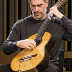 Paul Galbraith plays his distinctive, eight-string Brahms Guitar during a master class at the University of Southern California. (Photo: Peter Mackay)