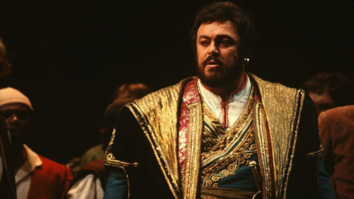 Luciano Pavarotti as Enzo Grimaldo in the SF Opera's 1979 production of La Gioconda (Photo: Ron Scherl)