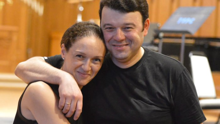 Pianist Angela Yoffe and violinist Vadim Gluzman.