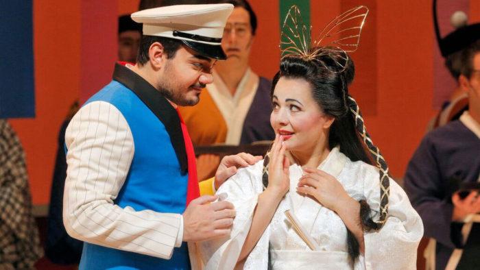 Vincenzo Costanzo as Pinkerton and Lianna Haroutounian as Cio-Cio-San (Photo: Cory Weaver)