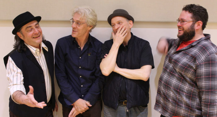 Composer Stewart Copeland and librettist/director Jonathan Moore with the Fiesta Team!