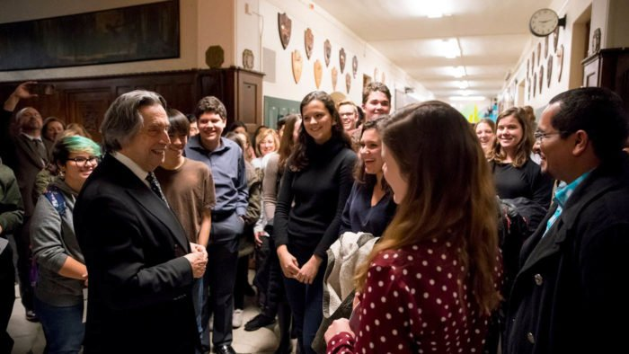 """Only beauty with a capital 'B' can save the world,"" Riccardo Muti Reminds High Schoolers"
