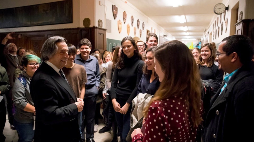 """""""Only beauty with a capital 'B' can save the world,"""" Riccardo Muti Reminds High Schoolers"""