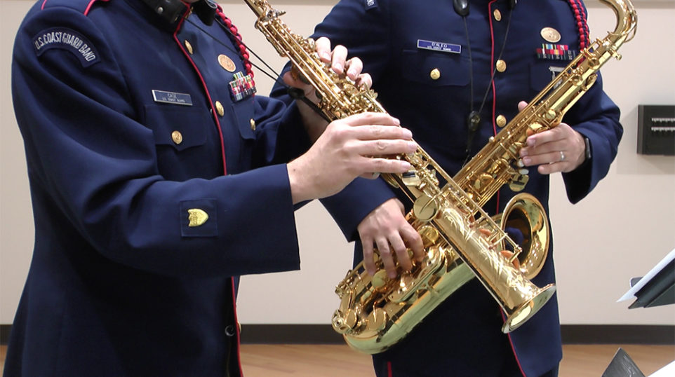 VIDEO | Hear a holiday medley performed by the U.S. Coast Guard Band Saxophone Quartet