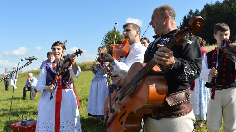 Folk musicians from Poland