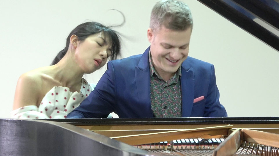 VIDEO | Anderson & Roe Piano Duo play four-handed arrangements of Brahms, Schubert, and Khachaturian