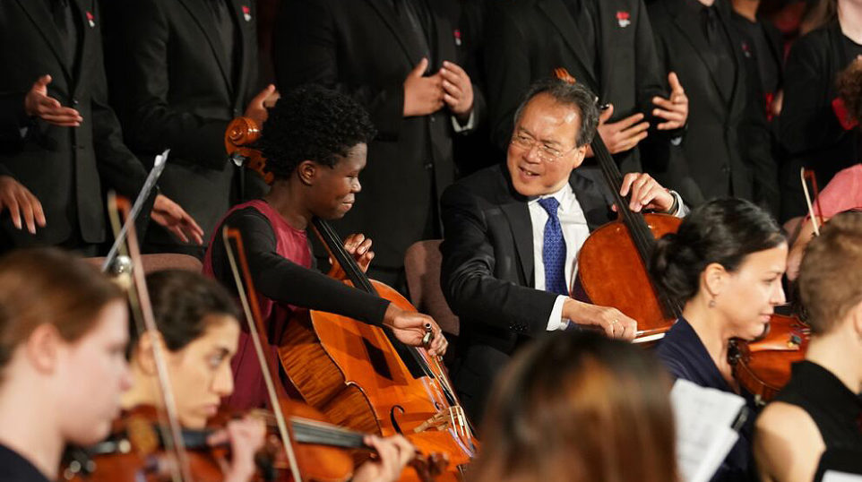 Yo-Yo Ma performs at St. Sabina Church on Chicago's South Side to raise awareness about gun violence
