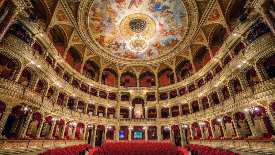 Budapest opera color photo opera house theater