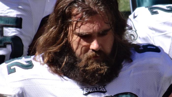 Philadelphia Eagles center Jason Kelce photographed in 2013