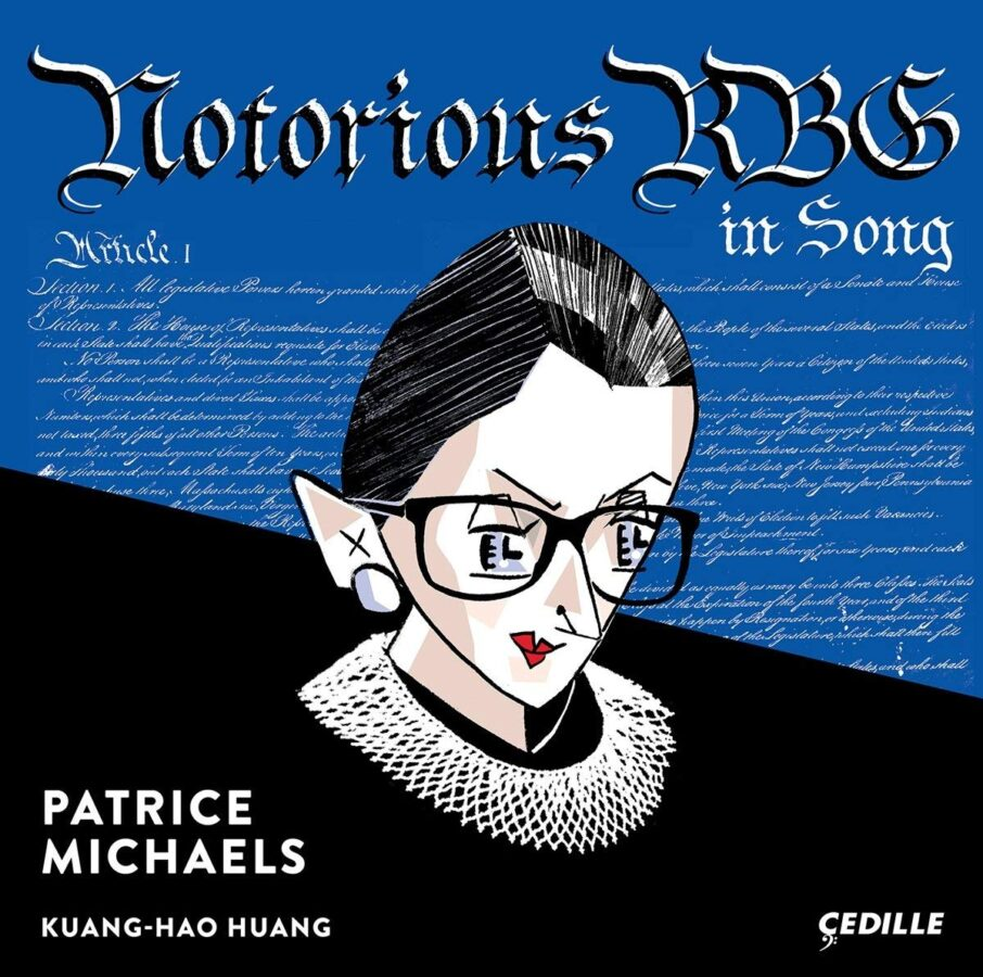 The Notorious RBG in Song, released on Cedille records, features album art by Tom Bachtell, known for his illustrations for The New Yorker
