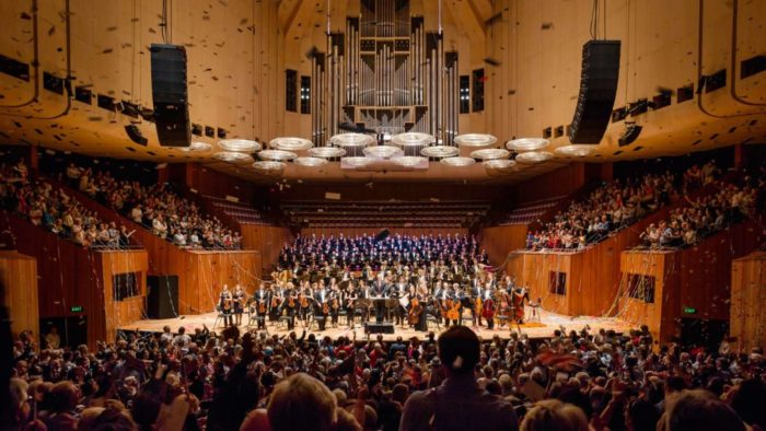 Sydney Symphony Orchestra on the Concert Hall Stage, 2015. [Photo: Robert Catto]