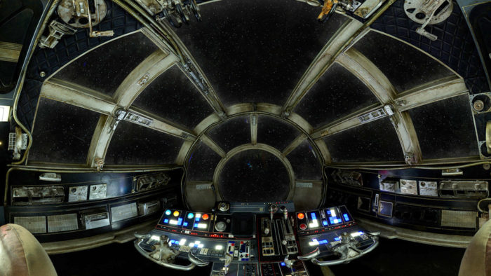 Cockpit of the Millennium Falcon from http://starwars.com