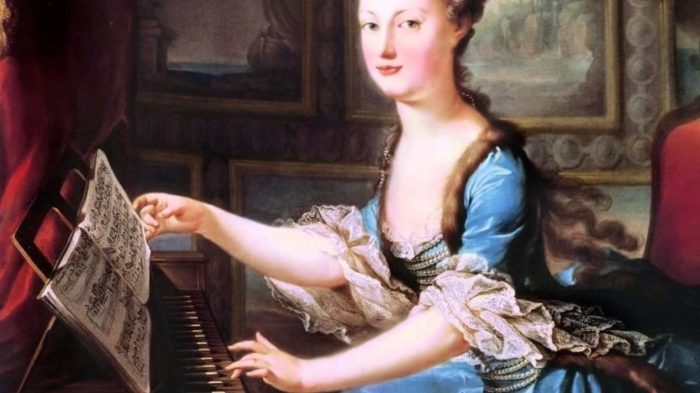 Woman at the harpsichord