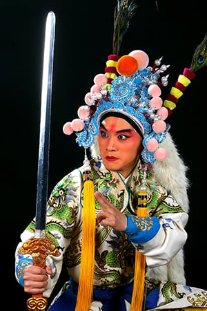 "Fu Xiru as Zi Dan in ""The Revenge of Prince Zi Dan"""