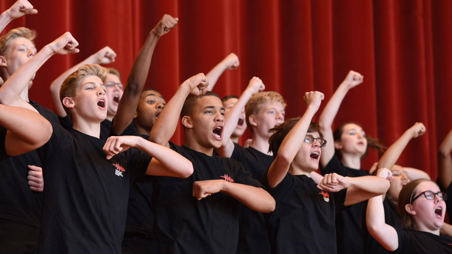 Members of the Chicago Children's Choir perform at the Pritzker Pavilion in Millennium Park (Photo: Tipping Point Photograhy)