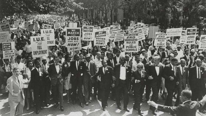 March on Washington Martin Luther King Jr. and Joachim Prinz