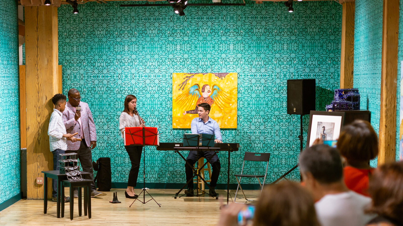 CAYO musicians perform at Weinberg/Newton Gallery in River North (Photo: Pixelcharge Photos)
