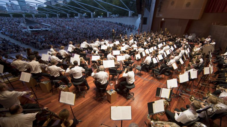 """The Chicago Symphony Orchestra and Civic Orchestra of Chicago, led by Riccardo Muti, performed a free """"Concert for Chicago"""" at the Jay Pritzker Pavilion in Millennium Park on September 20, 2018.(Photo: Todd Rosenberg)"""