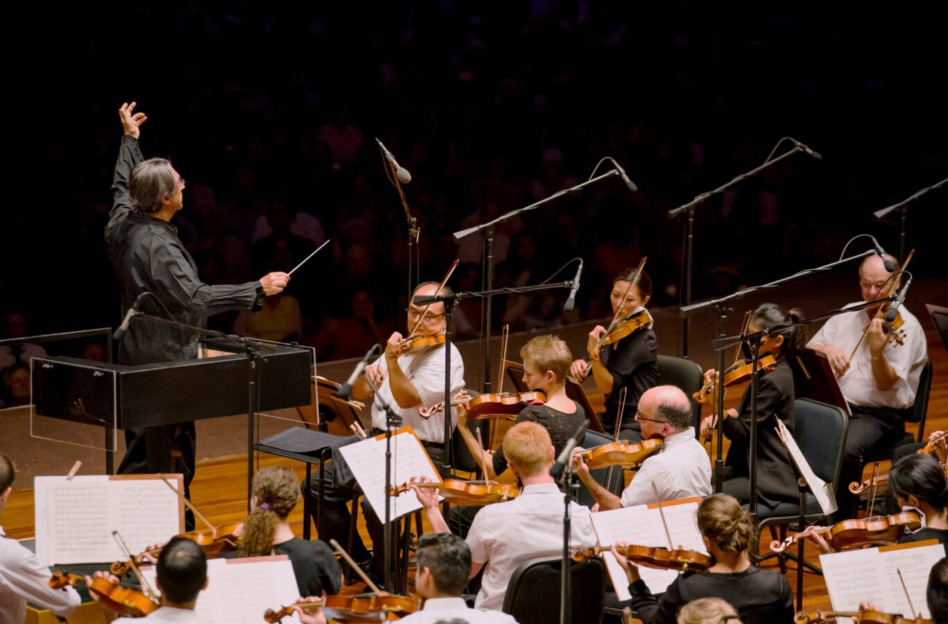 This year's concert at the Jay Pritzker Pavilion marks the ninth free CSO community concert since the beginning of Riccardo Muti's tenure as music director of the CSO and the fifth time Muti has led a CSO community concert in Millennium Park. (Photo: Todd Rosenberg)