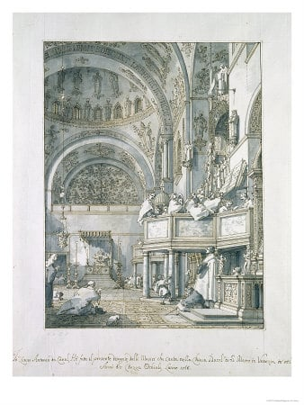 The Choir Singing in St. Mark's Basilica (Canaletto, 1766)