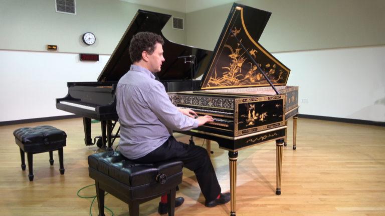 harpsichord music piano