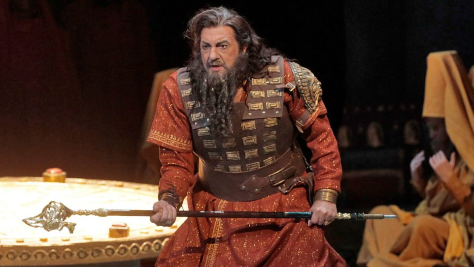 "Placido Domingo in the title role of LA Opera's 2017 production of ""Nabucco."" (Photo: Ken Howard / LA Opera)"