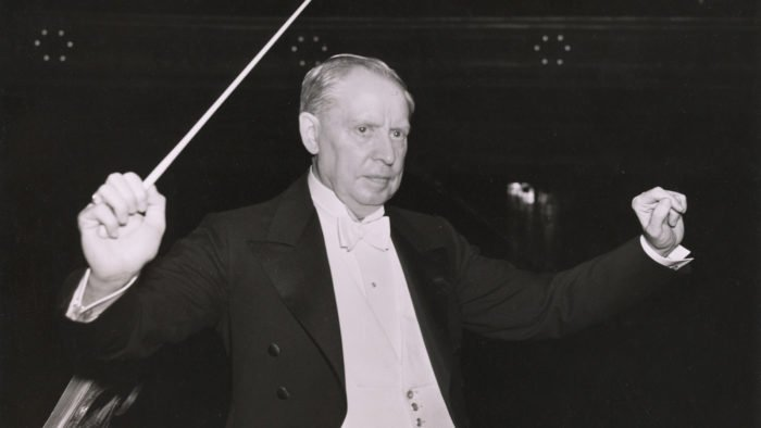 Frederick Stock in Orchestra Hall ca. 1930 (Photo: Jun Fujita courtesy of the Rosenthal Archives of the Chicago Symphony Orchestra)
