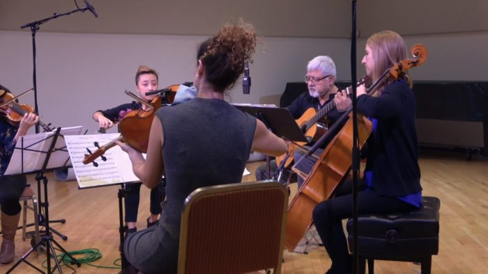 VIDEO | Guitarist Fareed Haque and the KAIA String Quartet share a brand new arrangement of a traditional Christmas carol