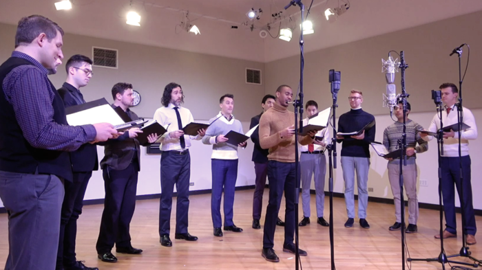 VIDEO | Chanticleer returns to WFMT for an Impromptu of festive holiday music