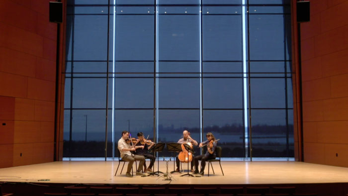 VIDEO | Dover Quartet performs music by Tchaikovsky and Dvořák at Northwestern University's Galvin Recital Hall