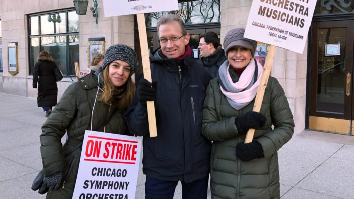 Now in its second week, the CSO musicians' strike continues