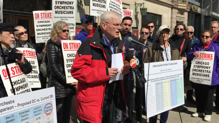Chicago Symphony Orchestra musicians on strike