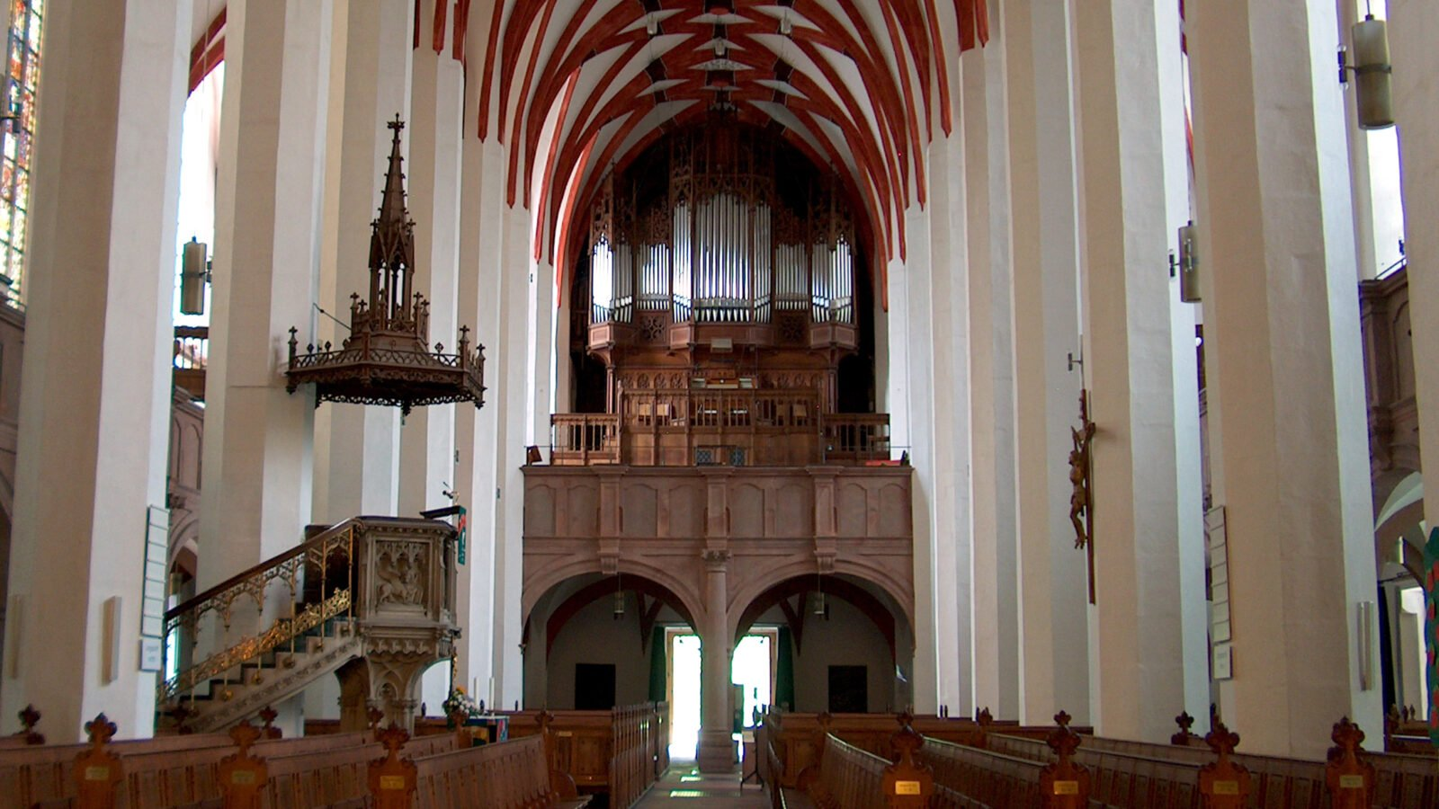 St. Thomas Church in Leipzig, associated with Bach