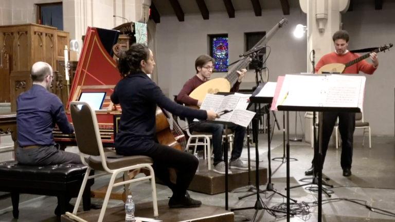 baroque music rehearsal