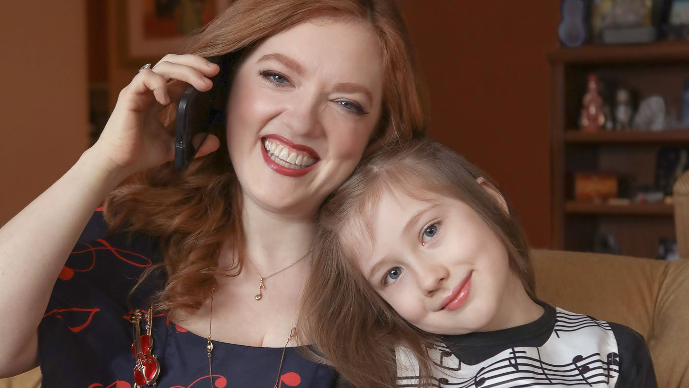 Rachael Barton Pine and her daughter Sylvia