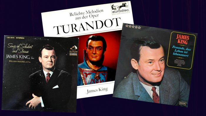 Collage of three James King record albums