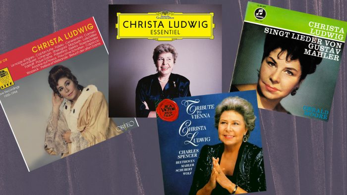 Collage of four Christa Ludwig album covers