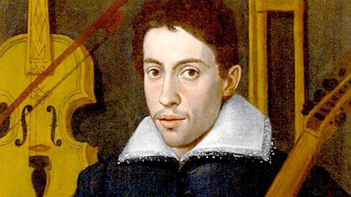 Portrait of young Monteverdi holding a viol